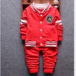 เสื้อ+กางเกง สีแดง แพ็ค 4ชุด ไซส์ (เหมาะสำหรับ0-4ขวบ)