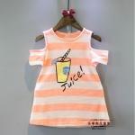 เสื้อ สีส้ม แพ็ค 5ชุด ไซส์ 7-9-11-13-15