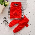 เสื้อตัวนอก+เสื้อตัวใน+กางเกง สีแดง แพ็ค 4ชุด ไซส์ S-M-L-XL