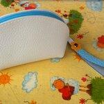 กระเป๋าใส่เหรียญสายสี 5x3 นิ้ว สีฟ้า
