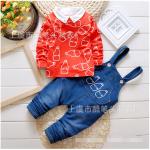 เสื้อกั๊ก+เสื้อตัวใน+กางเกง สีส้ม แพ็ค 4ชุด ไซส์ (เหมาะสำหรับ0-4ขวบ)