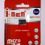 I-MeM Micro SD Card Class 4 - 8GB เมมโมรี่การ์ดความจุ 8GB High Capacity
