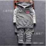 เสื้อกั๊ก+เสื้อตัวใน+กางเกง สีเทา แพ็ค 4ชุด ไซส์ (เหมาะสำหรับ0-4ขวบ)