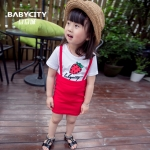 Baby City ชุดเซ็ตเด็กเล็กลายสตรอเบอรี่ - สีแดง