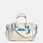 Preorder COACH Soft Swagger 27 Caryall with Carabiner Hardware in Grain Leather Style No: 37908