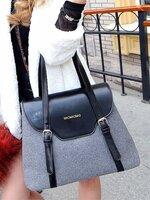กระเป๋าแฟชั่น Maomaobag - 077 สี Gray (FREE จัดส่ง)