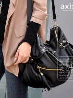 กระเป๋าแฟชั่น Axixi - 021 สีดำ (พร้อมส่ง)