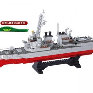 เรือรบ (Warship) S-0390. ตัวต่อเลโก้จีน เรือรบพิฆาต ยาว 55 ซม.