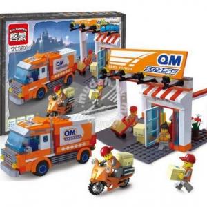 ขนส่ง (Transport) E-1119. ตัวต่อเลโก้จีน ชุดรถไปรษณีย์