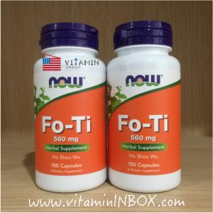 # ผมงอก # Now Foods, Fo-Ti, Ho Shou Wu, 560 mg, 100 Capsules