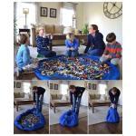 Toy Mat And Storage Bag ถุงรูดเก็บของเล่น นั่งเล่นได้อย่างเป็นระเบียบ ความกว้าง 150 ซม. มี 2 สีค่ะ ฟ้าชมพู (ต้องใส่ของเล่นให้มีน้ำหนักถึงรูดได้นะคะ)