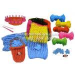 DIY ถักไหมพรม ชุดทำผ้าพันคอ พร้อมคู่มือภาษาไทย 4 สี