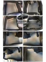 ผ้ายางปูพื้นรถยนต์ CIVIC FD ลายกระดุม สีเทาขอบดำ เต็มคัน เข้ารูป 100%