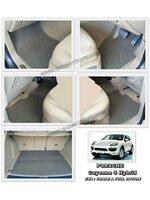 ผ้ายางปูพื้นรถยนต์ PORSCHE Cayenne S Hybrid ลายกระดุม สีเบจ เข้ารูป 100%