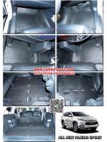 พรมปูพื้นรถยนต์ ALL NEW PAJERO SPORT ลายกระดุม สีดำ เต็มคัน เข้ารูป100%
