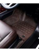 พรมปูพื้นรถยนต์ ALL NEW FORTUNER รุ่น PROMAT ลายหนังแท้ รีดขอบ สีน้ำตาลเข้ม