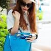 PreOrder กระเป๋า AXIXI รหัส AI0083 กระเป๋าแฟชั่นเกาหลี (สีน้ำเงิน)