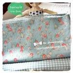 JULY57Pack9 : ผ้าจัดเซต ผ้าถุงแป้ง Yuwa +ผ้าไทย1ชิ้น ขนาดผ้าแต่ละชิ้น 25-27 X 45-50 cm