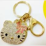 พวงกุญแจ kitty ประดับเพชร
