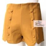 กางเกงแฟชั่นเอวสูงสุดฮิต สีเหลืองทอง มีไซส์ M,L