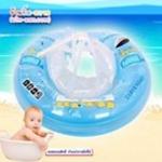 ฟ้า Size M บรรจุกล่อง- ห่วงยางพยุงหลัง Safty Baby Swim Trainer Float ห่วงยางเด็กเล่นน้ำเด็กเล็กพยุงหลังล็อค 2 ชั้นโอบรอบตัวสุดฮิต (6 เดือน -2 ขวบ ( -วิธีใช้ดูในคลิปวีดีโอค่ะ) (สายพาดบ่าไม่จำเป็นต้องเป่านะคะ ตัวปีกสีขาวโตแล้ว
