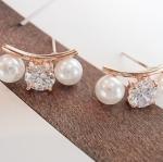 ต่างหู Pearl & Diamond