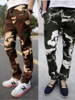 กางเกงผ้ายืดลายพรางทหาร