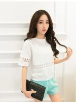 เสื้อสไตล์สาวเกาหลี น่ารักมากๆมีสีขาวกับสีฟ้า