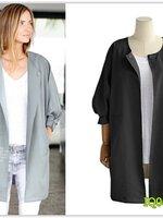 Pre เสื้อคลุม แฟชั่น ราคาถูก สีดำ มีไซด์ S/M/L/XL