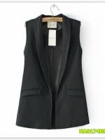 พรีออเดอร์ เสื้อสูท/blazer สีดำ มีไซด์ S/M/L