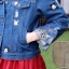 เสื้อแจ๊คเก็ตแบบตัวสั้นแขนยาวมีปก เนื้อผ้ายีนส์ thumbnail 5