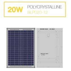 แผงโซล่าเซลล์ 20W Poly Solarshop