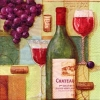 แนพกิ้น 33x33 Kitchen Wine 340202