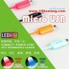 (337-002)สายชาร์จ LED ไฟสถานะสองสี ยี่ห้อ Golf สำหรับหัวชาร์จแบบ Micro USB ยาว 1 เมตร