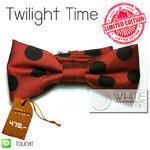 Twilight Time LIMITED EDITION - หูกระต่าย ผ้าสีแดง จุดดำ (BT170) by WhiteMKT