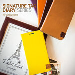 ZENUS : Signature Tag Leather Diary Cover Case For Galaxy Note 3, III, N9000, N9005