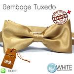 Gamboge Tuxedo - หูกระต่าย สีเบจ (46) เนื้อผ้าผิวมัน เรียบ เกรต A (BT289A) by WhiteMKT
