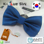 K-Blue Sky - หูกระต่าย สีน้ำเงิน ผ้าเนื้อลาย สไตล์เกาหลี (BT009) by WhiteMKT