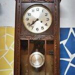 นาฬิกา2ลานเยอรมันตู้แกะลาย รหัส91557wc2