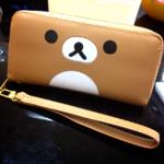 กระเป๋าสตางค์ รุ่นยาว Rilakkuma ริลัคคุมะ มีสายคล้อง
