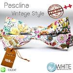 Pasclina - หูกระต่าย ลายดอกไม้ โทนสี ขาว เหลือง ผ้าพิมพ์ลาย สไตล์วินเทจ Premium Quality++ (BT786) by WhiteMKT