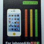 แถบสีติดด้านข้าง สีขาว for iPhone4 (MSP023) by WhiteMKT