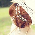 Crystal Flower Princess Head Band ที่คาดผมลายดอกไม้สีเงินแต่งคริสตัล สไตล์เจ้าหญิง