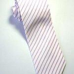 เนคไท ผ้าทอลาย โทนสีขาว ลายทางเฉียงสีแดง หน้ากว้าง 3.5 นิ้ว ขายปลีก ขายส่ง รับผลิต และ นำเข้า  (NT009) by WhiteMKT