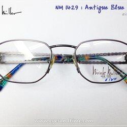 กรอบแว่น Nicole Miller กรอบเหลี่ยม สีฟ้า รุ่น NM - 1429