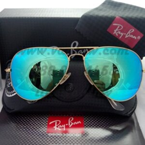 RB 3025 AVIATOR LARGE METAL 112/19 58-14 3N ปรอทฟ้า