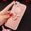 (025-979)เคสมือถือไอโฟน Case iPhone7/iPhone8 เคสนิ่มซิลิโคนใสลายหรูติดคริสตัล พร้อมแหวนเพชรวางโทรศัพท์ และสายคล้องคอถอดแยกสายได้ thumbnail 6