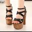 รองเท้าส้นสูง ไซต์ 34-38 สีดำ/แชมเปน thumbnail 3