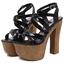 รองเท้าส้นสูง ไซต์ 34-38 สีดำ/แชมเปน thumbnail 7