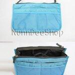 กระเป๋าจัดระเบียบ Cosmetic Bag สีฟ้า **พร้อมส่ง**